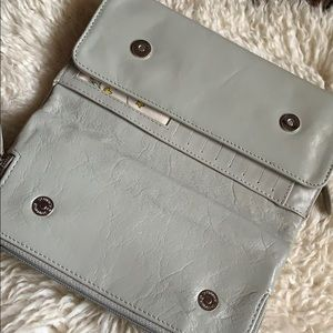 None Bags - Gray leather wallet